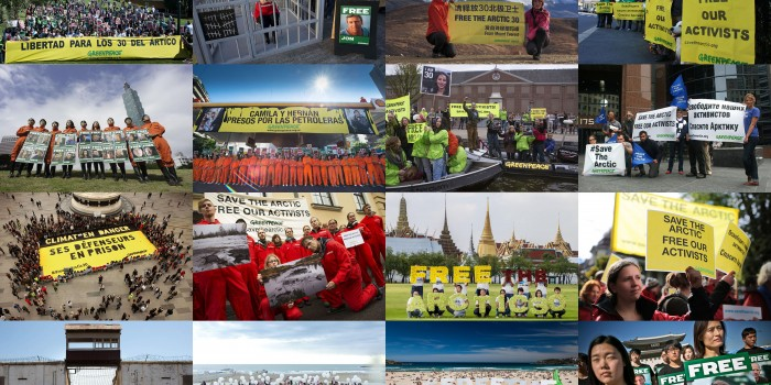 Los activistas del Ártico son <br/>amnistiados por el parlamento ruso
