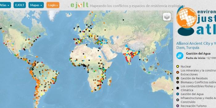 Ahora hay un Atlas Mundial de los conflictos medioambientales