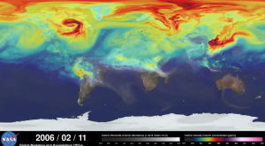 NASA muestra cómo se ve mueve el CO2 en la Tierra