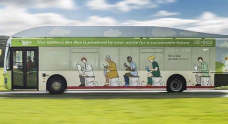 """Debutan primer """"bio-bus"""" inglés y nueva generación autos verdes"""