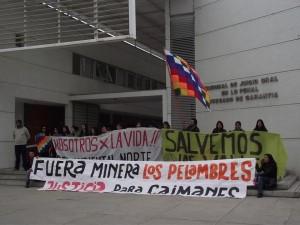 Caimanes sólo pide que se cumpla el fallo de octubre de la Corte Suprema, que ordena a la minera a restituir las aguas del estero Pupío.